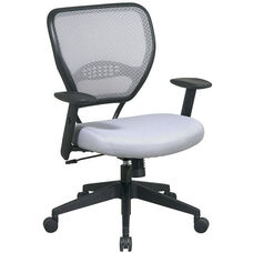 Space Air Grid Back Task Chair with Lumbar Support and Adjustable Arms - Shadow