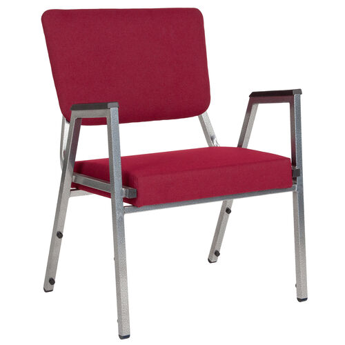 Our HERCULES Series 1500 lb. Rated Burgundy Antimicrobial Fabric Bariatric Antimicrobial Medical Reception Arm Chair with 3/4 Panel Back is on sale now.