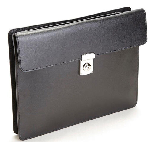 Our RFID Blocking Executive Underarm Portfolio Briefcase - Saffiano Genuine Leather - Black is on sale now.