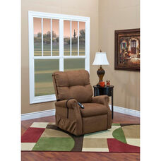 Economy Model Two Way Reclining Power Lift Chair with Magazine Pocket - Dawson Brown Fabric