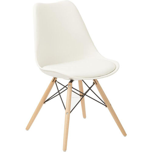 Our Ave Six Allen Guest Chair with Natural Wood Legs - White is on sale now.