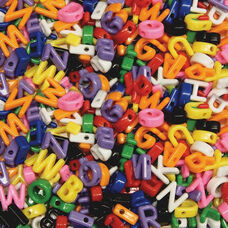 Chenille Kraft Company Upper Case Letter Beads