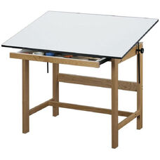 Titan Solid Oak Table Oak Finish - 37.5