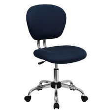 Mid-Back Navy Mesh Padded Swivel Task Office Chair with Chrome Base