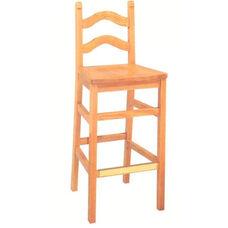 1903 Bar Stool w/ Wood Saddle Seat
