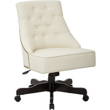 Inspired By Bassett Rebecca Tufted Back Office Chair with Nailheads - Linen
