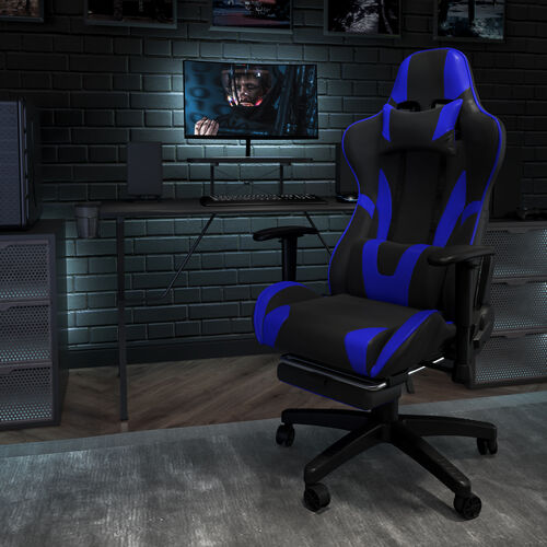 X20 Gaming Chair Racing Office Ergonomic Computer PC Adjustable Swivel Chair with Fully Reclining Back in Red LeatherSoft