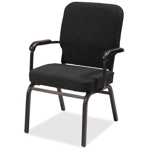 Our Lorell Black Fabric Oversize Stacking Armchair with 500lb Capacity - Set of 2 is on sale now.