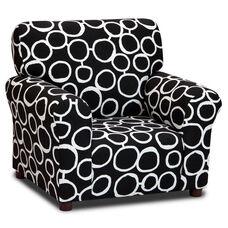 Kids Freehand - Black/White Club Chair