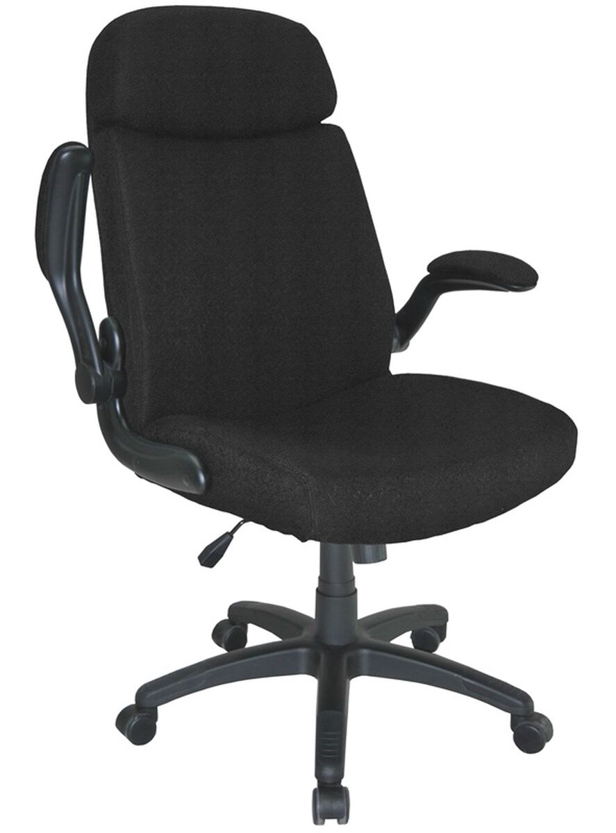 Our Comfort Series 500 Lb Capacity Big Tall Pivot Arm Chair Black Is On