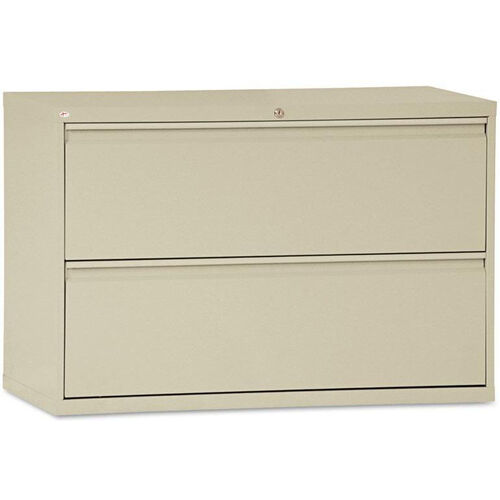 Alera® Two-Drawer Lateral File Cabinet - 42w x 19-1/4d x 28-3/8h - Putty