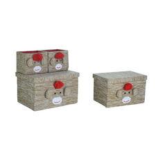 Multiple Size Fabric Storage Box - Monkey