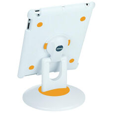 ViewStation for iPad 2 - White Shell with White and Orange Base