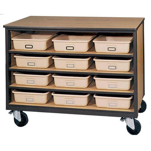 4-Shelf Tote Tray Mobile Storage
