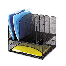 Safco® Mesh Desk Organizer - Eight Sections - Steel - 13 1/2 x 11 3/8 x 13 - Black