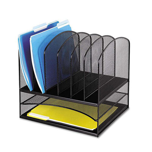 Our Safco® Mesh Desk Organizer - Eight Sections - Steel - 13 1/2 x 11 3/8 x 13 - Black is on sale now.