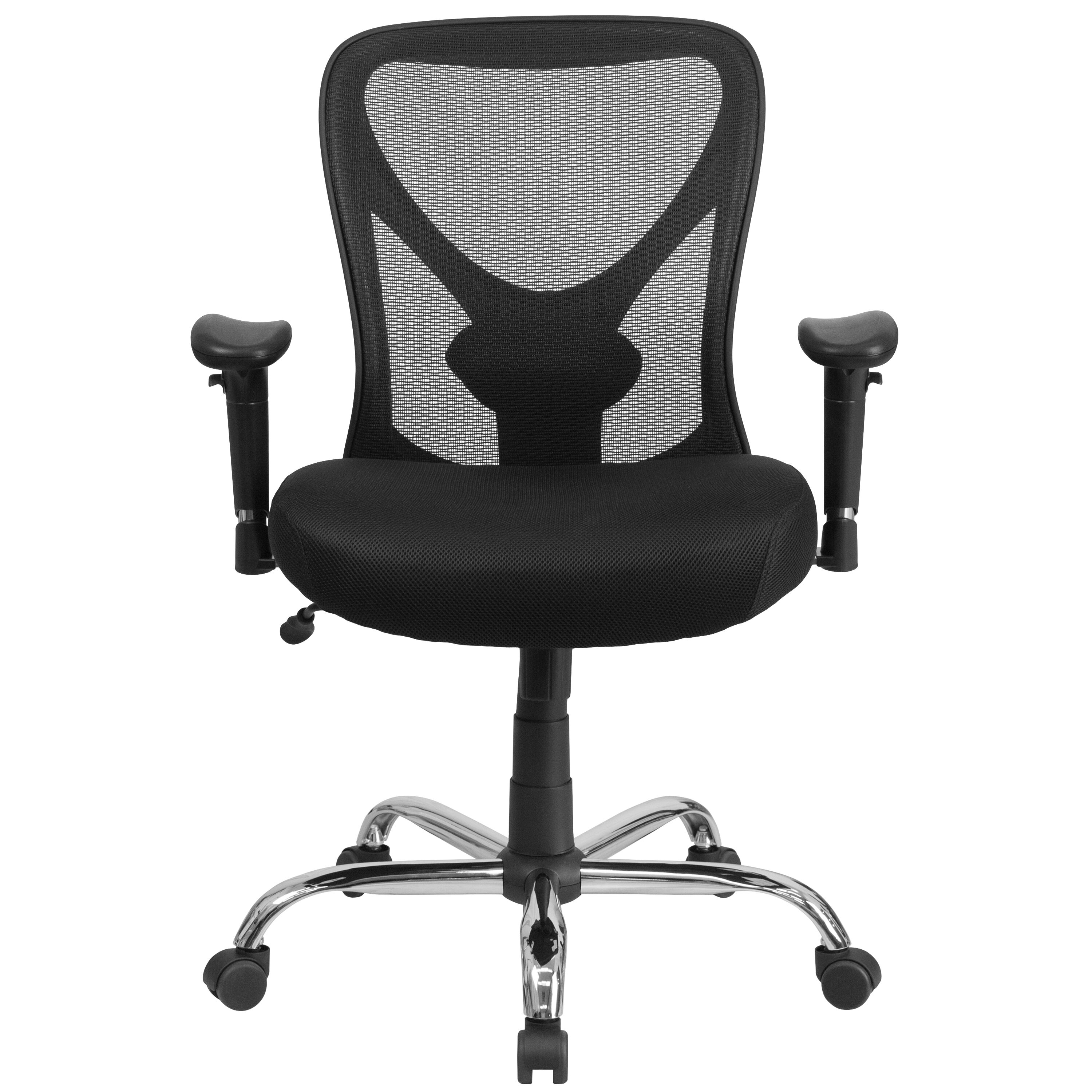 ... Our HERCULES Series Big u0026 Tall 400 lb. Rated Black Mesh Swivel Task Chair with  sc 1 st  Bizchair.com & Black 400LB Mid-Back Chair GO-2032-GG | Bizchair.com