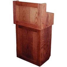 Oxford Two Piece Non-Sound Lectern - Mahogany Finish - 22