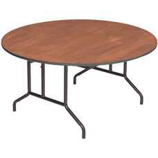 Round Sealed and Stained Plywood Top Table with Vinyl T - Molding Edge - 36