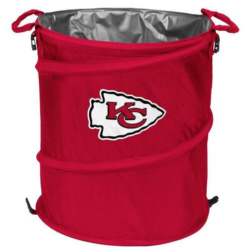 Kansas City Chiefs Team Logo Collapsible 3-in-1 Cooler Hamper Wastebasket