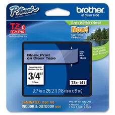 Brother TZe741 Black on Green Label Tape - 0.70