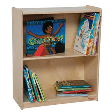 Toddler Sized Small Bookcase with Two Fixed Shelves - Assembled - 24