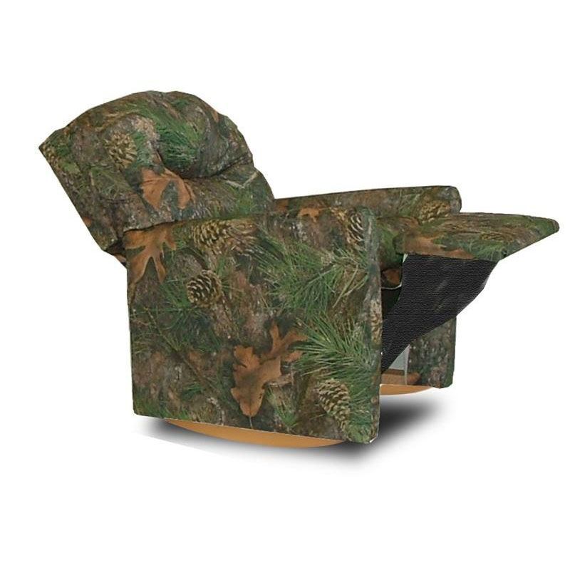 Beau ... Our Kids True Timber Fabric Contemporary Rocker Recliner With Tufted  Back   Camo Green Is On ...