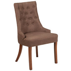 HERCULES Paddington Series Brown Fabric Tufted Chair