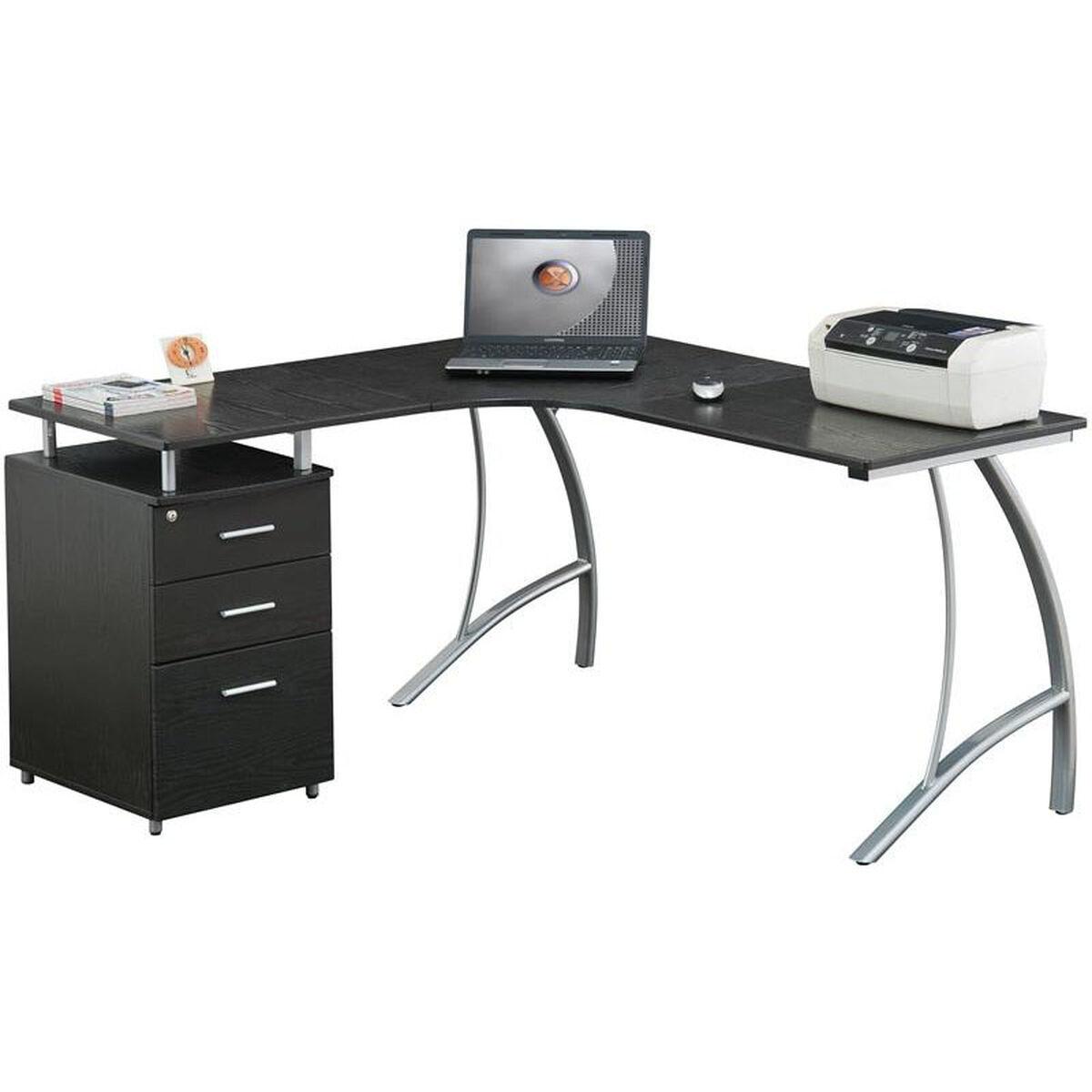 Our Techni Mobili L Shape Corner Desk With File Cabinet Espresso Is On Now