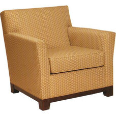 1351 Upholstered Lounge Chair w/ Wood Platform Base - Grade 1