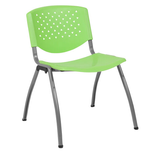 Our HERCULES Series 880 lb. Capacity Green Plastic Stack Chair with Titanium Gray Powder Coated Frame is on sale now.