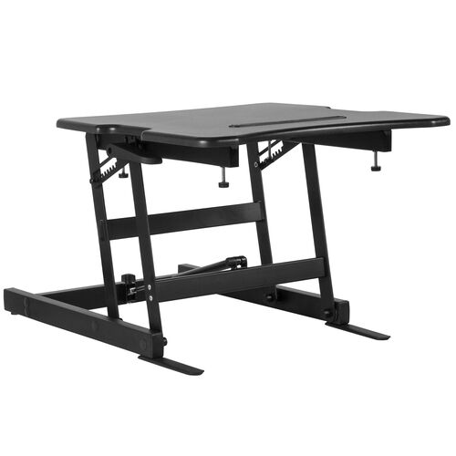 """Our HERCULES Series 22""""W Black Sit / Stand Height Adjustable Ergonomic Desk with Height Lock Feature is on sale now."""