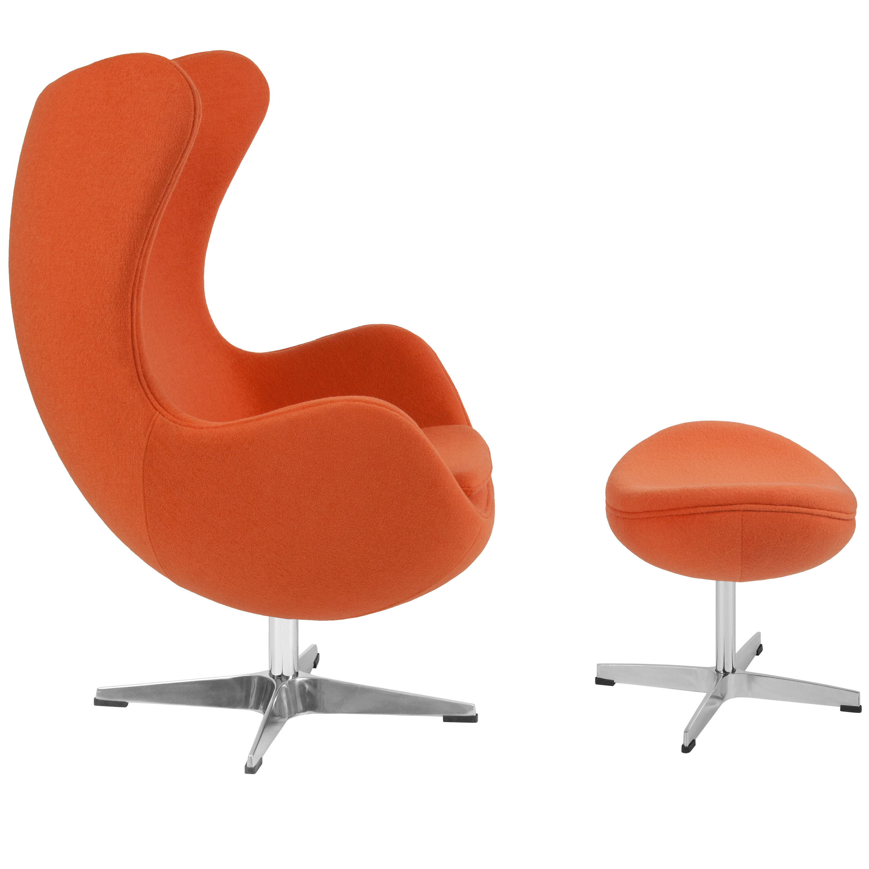 ... Our Orange Wool Fabric Egg Chair With Tilt Lock Mechanism And Ottoman  Is On Sale ...