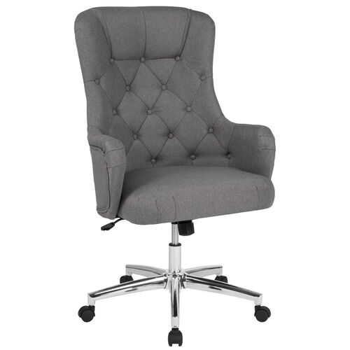 Chambord Home and Office Diamond Patterned Button Tufted Upholstered High Back Office Chair