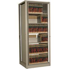 Ez2 Rotary File Shelving 6 Shelves Letter Depth - Adder Unit - Bone White