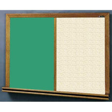 210 Series Wood Frame Combo Chalkboard and Tackboard - Fabricork - 48