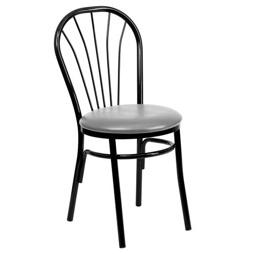 Our Metal Fan Back Bistro Chair with Custom Upholstered Seat is on sale now.