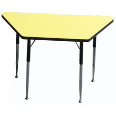 Trapezoid Shaped Particleboard Activity Table - 24