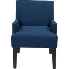 Work Smart Main Street Guest Chair with Espresso Finish Legs - Indigo