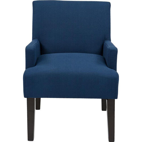 Our Work Smart Main Street Guest Chair with Espresso Finish Legs - Indigo is on sale now.