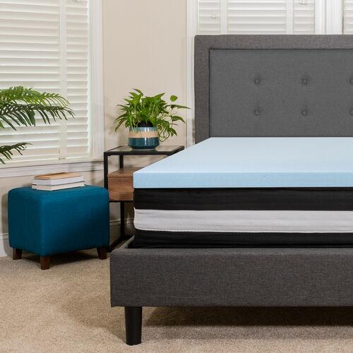 Capri Comfortable Sleep 12 Inch CertiPUR-US Certified Foam and Pocket Spring Mattress with Gel Memory Foam Topper Bundle Set