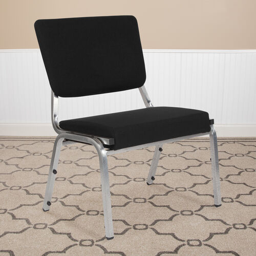 HERCULES Series 1500 lb. Rated Antimicrobial Bariatric Medical Reception Chair with 3/4 Panel Back