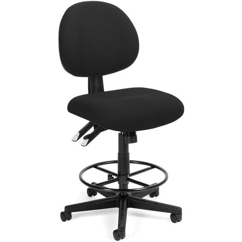 24 Hour Task Chair with Drafting Kit - Black