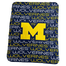 University of Michigan Team Logo Classic Fleece Throw