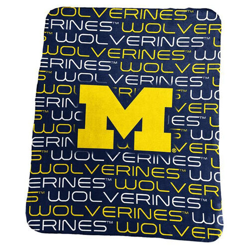 Our University of Michigan Team Logo Classic Fleece Throw is on sale now.