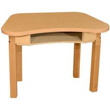 Synergy Classroom High Pressure Laminate Desk with Hardwood Legs - 30