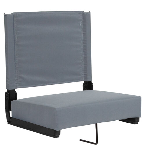 Our Grandstand Comfort Seats by Flash with Ultra-Padded Seat in Gray is on sale now.