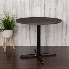 "36"" Round Multi-Purpose Conference Table in Rustic Gray"