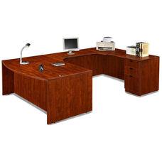 Cherry Bow Front Desk U Suite