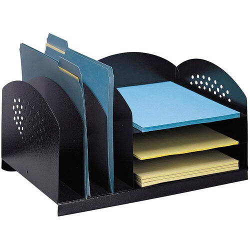 Our Three Upright and Three Horizontal Sections Combination Rack - Black is on sale now.